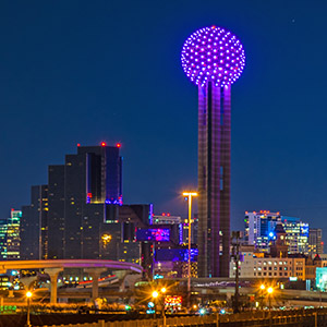 Reunion Tower, photo by Michael Samples