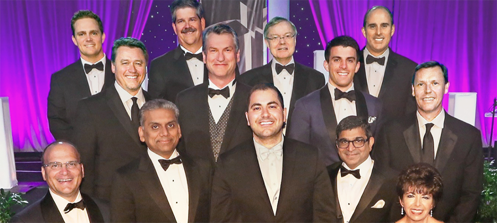 Dialexa co-founders Scott Harper,CEO, (upper left) and Mark Haidar, Chairman, (center) win EY Emerging Technology Entrepreneurs of the Year 2016 Southwest Award.