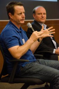 Craig Lee speaks about his work at AT&T Foundry at the UT Dallas Tech Titans Event. Photo by Hannah Ridings.