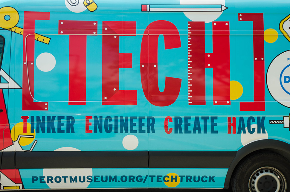 The Perot Museum Tech truck is a science experince on wheels, helping bring the museum to the community.  [ Photo by Hannah Ridings ]