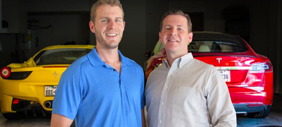 Alex Becker and Kirk Ballou