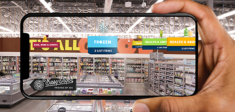 Accenture design and innovation arm Fjord has built VR apps that train workers to build sandwiches and machines. Whole Foods 365 (coming soon) allows shoppers' smartphones to find items and to locate gourmet pairings. [Courtesy: Accenture]