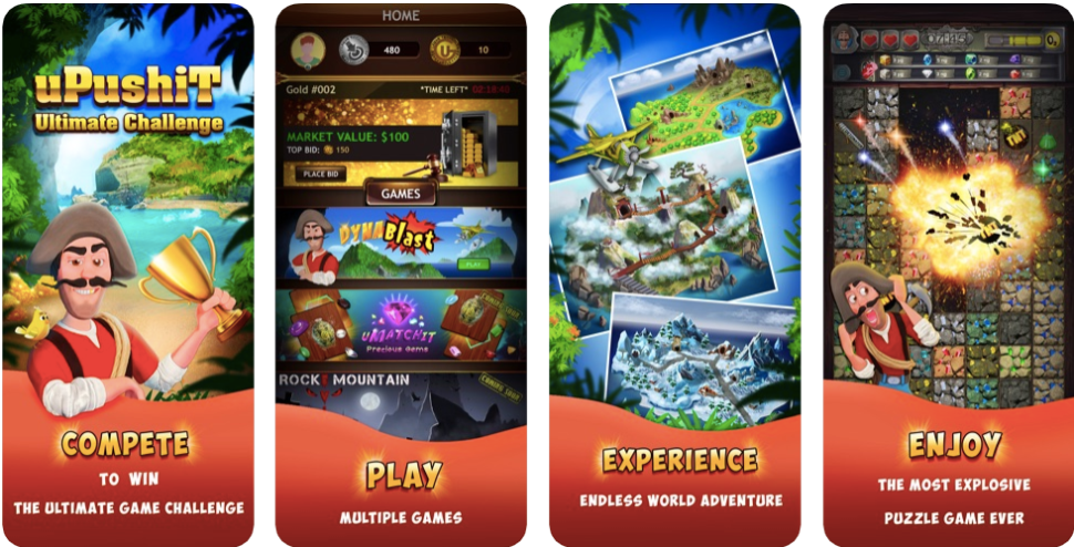 uPushiT Ultimate Challenge is available on Google Play and the App Store. [Image: Screenshot]