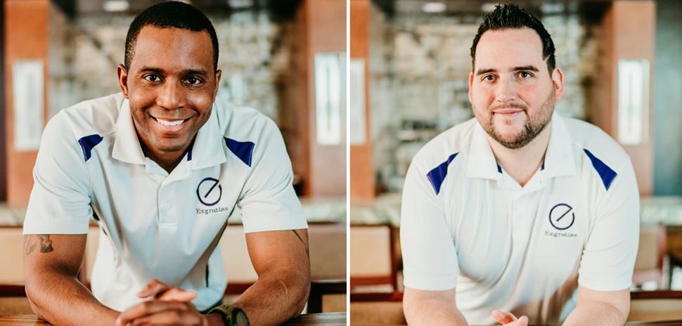 Dallas-based fintech Exgratias co-founders Emanuel Green and Thomas Langehennig [Photos: Courtesy Exgratias]