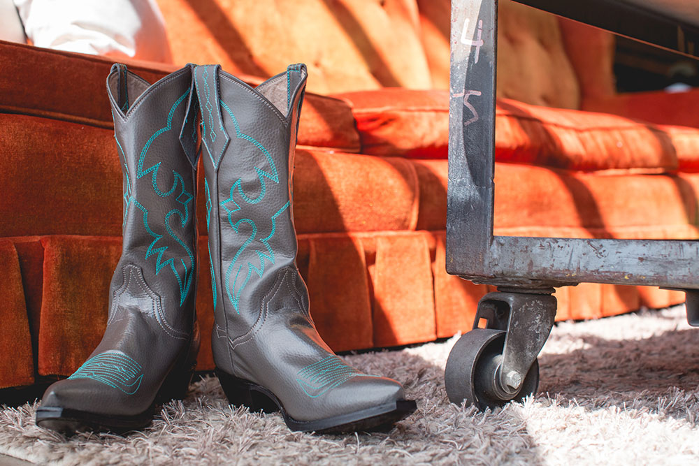 Some of Kat Mendenhall's vegan-friendly boots. Photos by Lindsey Miller.