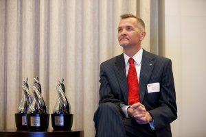 Dean David Chard with the Luminary Awards.