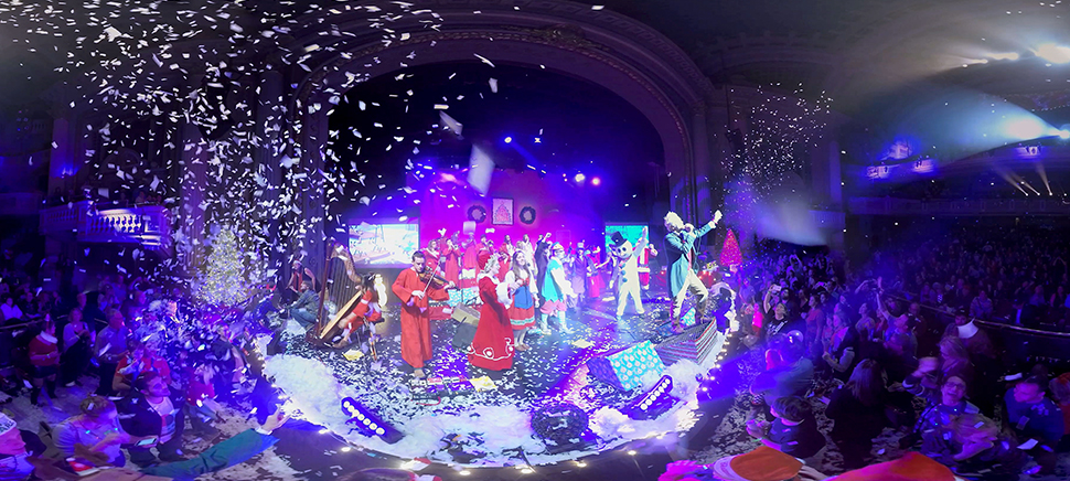 Tim DeLaughter, frontman of Polyphonic Spree, performs while Reel FX captures the concert for a live-action Virtual Reality experience.