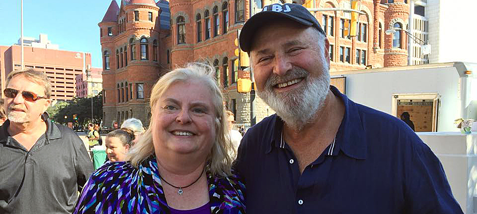 Janis Burkland and Rob Reiner