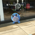 You never know when and where a Poliwag might pop up in Pokemon Go! Photo courtesy of Tuck Ross.