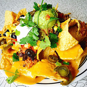 The famous Nacho Supremo at Spiral Diner & Bakery