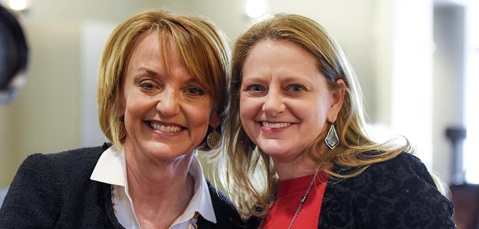 Patti Johnson and Lesley Harris