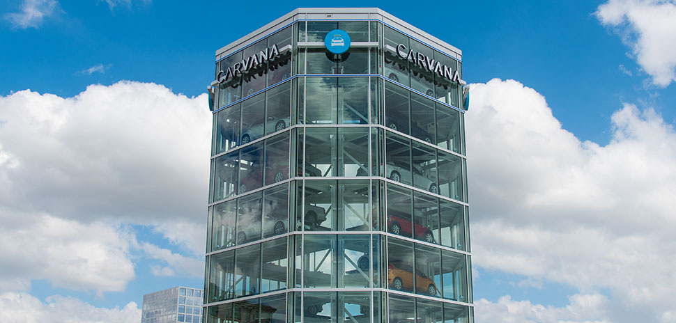 carvana 39 s 7 story frisco tower open for deliveries dallas innovates. Black Bedroom Furniture Sets. Home Design Ideas