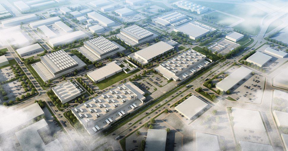 Aerial rendering of Digital Realty.