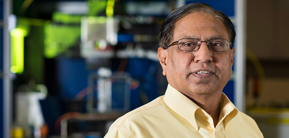 Narendra Dahotre, University Distinguished Research Professor in UNT's Department of Materials Science and Engineering [Photo: Courtesy of UNT]