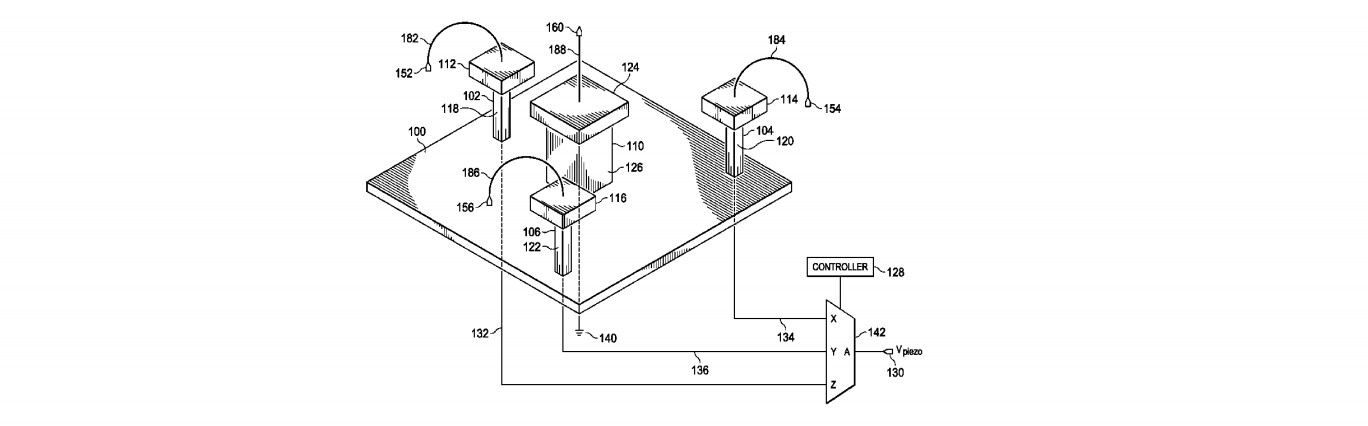 Piezoelectric multiplexer patent