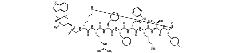 Somatostatin-dopamine chimeric analogs