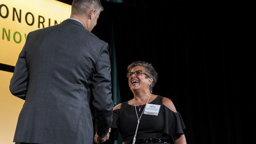 Technology Adopteraward recipient, Janet DeBerardinis, CIO, Caliber Collision Centers [Photo: Courtesy of Tech Titans]