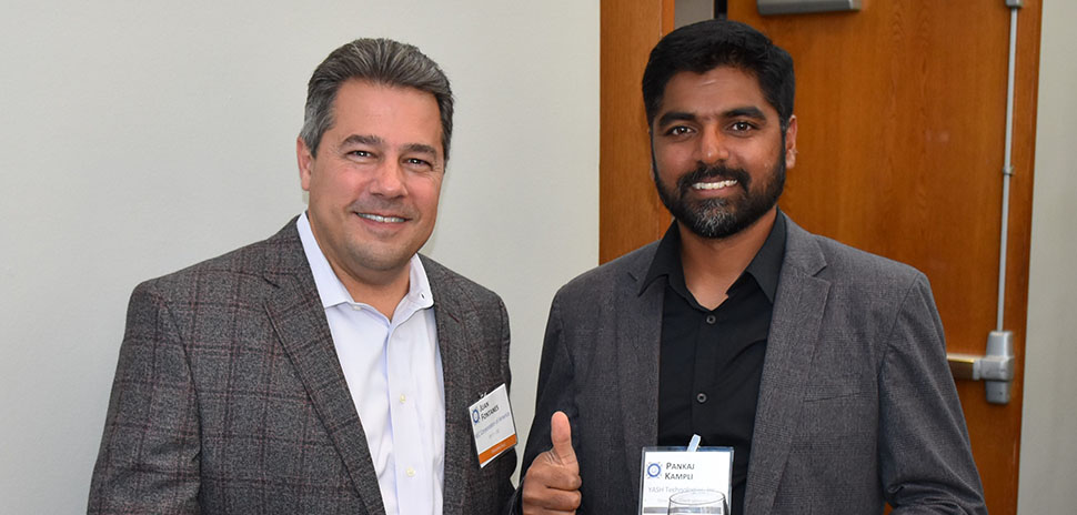 Juan Fontanes, NEC Corporation of America VP of IT and CIO and Pankaj Kampli, YASH Technologies, Inc. Director of Client services