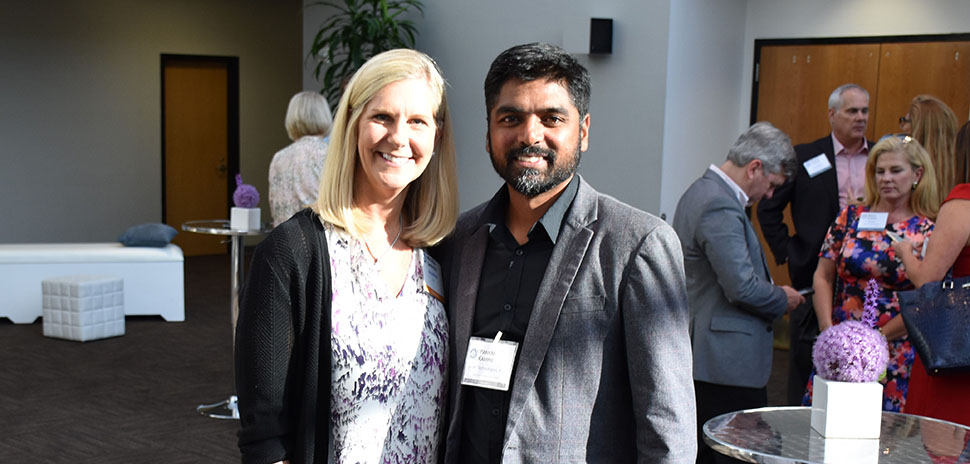 Michelle Sheffield, BenefitMall CIO and Pankaj Kampli, YASH Technologies, Inc. Director of Client services
