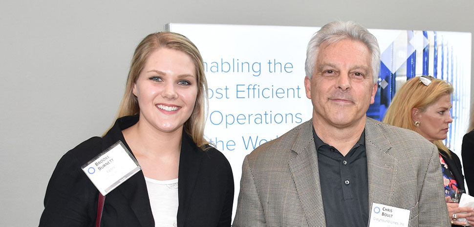 Brooke Burnett, Epitec Technical Recruiter and Chris Boult, Greyhound Lines, Inc CIO