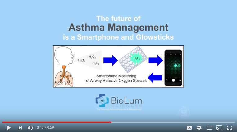 Click the image to watch a video on BioLum published in November 2016.