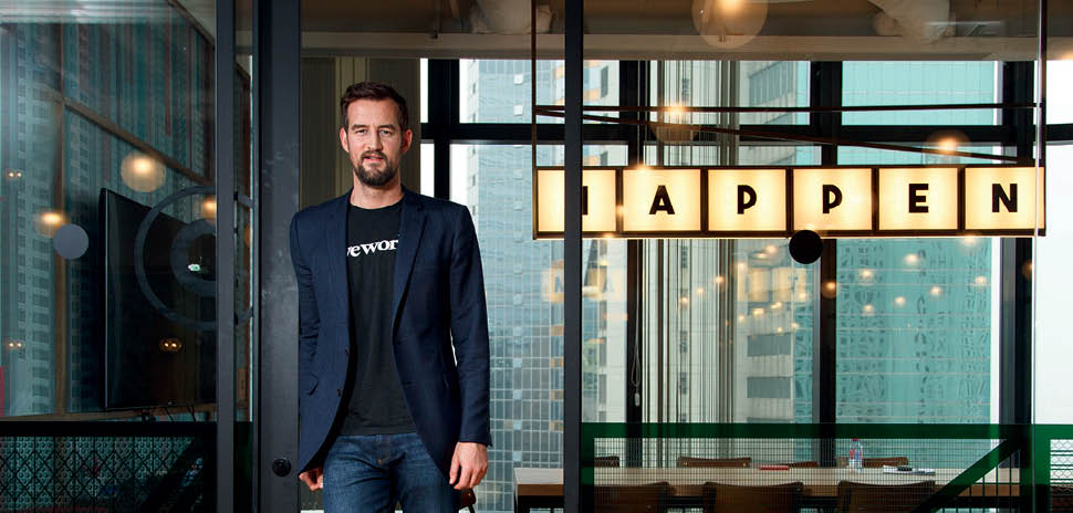 Co-founder and Chief Creative Officer Miguel McKelvey set the design aesthetics in its early days and helped build out WeWork's interior design brand, according to FastCoDesign. The company's common spaces have a distinct aesthetic and vibe unique to each community.
