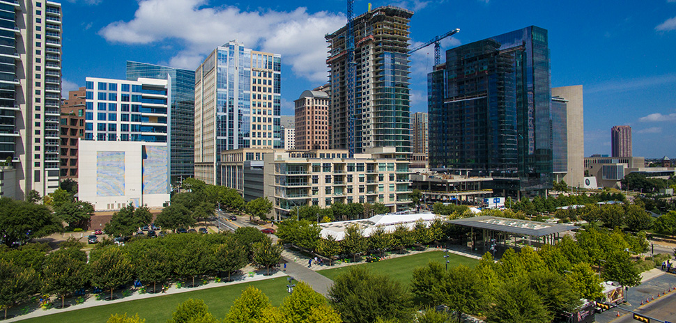 parks Klyde Warren Park is an oasis in Dallas' downtown area. [Photo: Michael Samples]