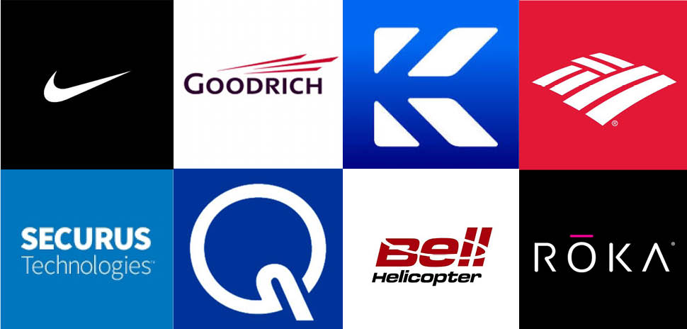 Clockwise, from upper left: Patents granted this week include NIKE Inc., Goodrich Corporation, Knighscope Inc., Bank of America Corp., ROKA Sports Inc., Bell Helicopter Textron Inc., Quest Medical Inc., and Secures Technologies Inc.