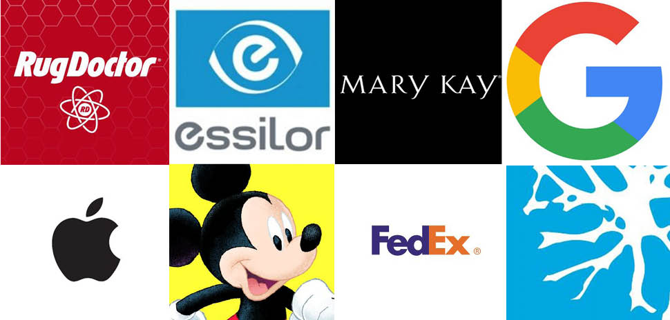 Clockwise from left: Patents were assigned to Rug Doctor, Essilor International, Mary Kay, Google Inc., Brainspace, FedEx Supply Chain Logistics Electronics Inc., Disney Enterprises Inc., and Apple Inc. the week of Oct. 17.