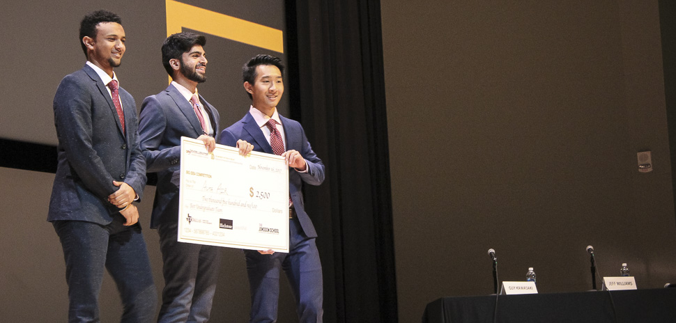 Alta Air team won the best undergrad pitch at the UTD Big Idea Competition 2017.