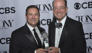 Kevin Moriarty and Jeff Woodward at the 2017 Tony Awards in June.