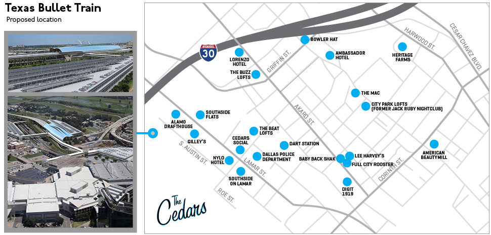 The Cedars neighborhood map: A lay of the land.