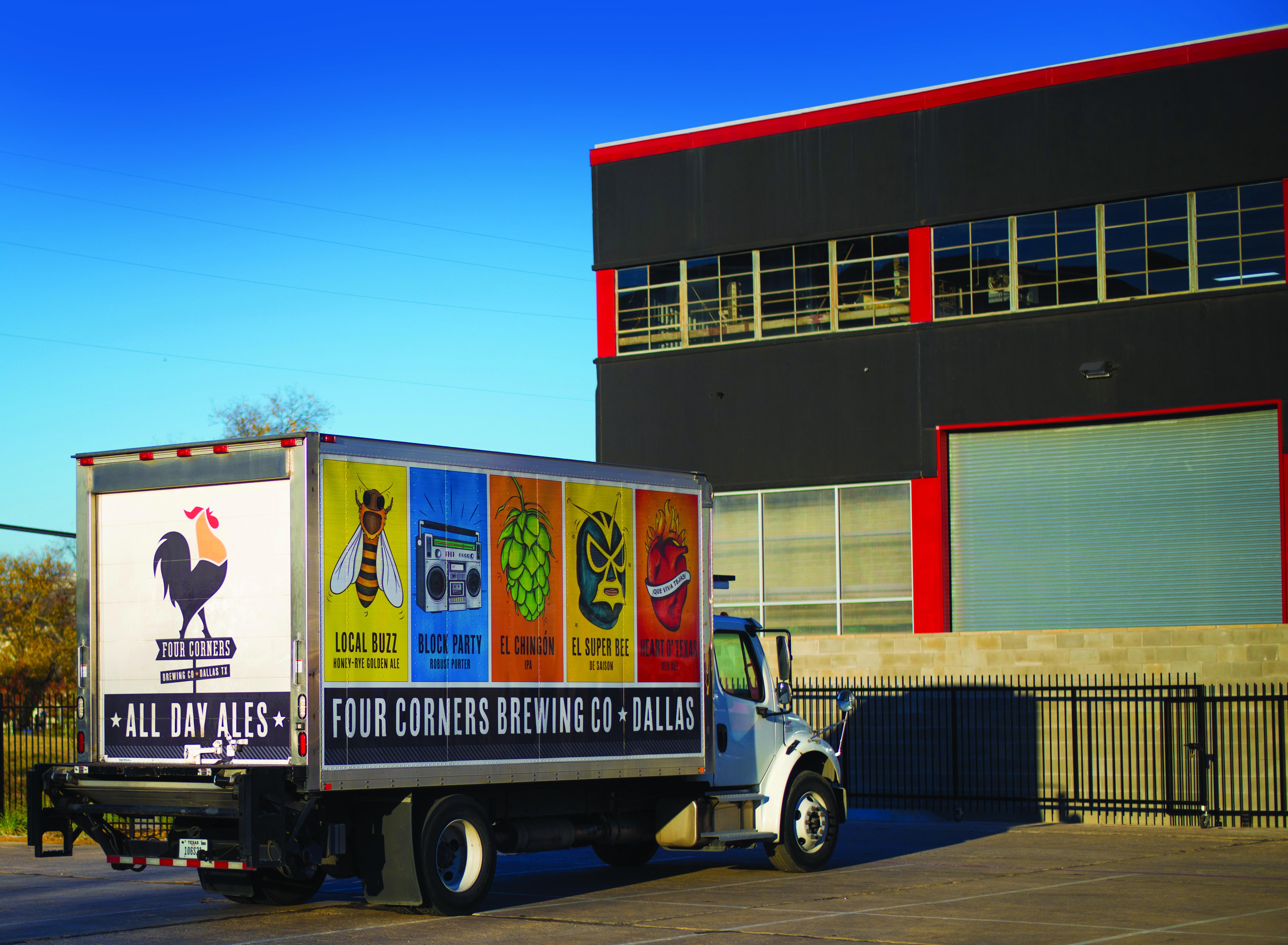Four Corners Brewing Co. in Dallas' The Cedars.