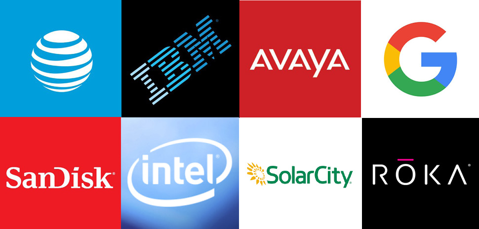 Patents were granted to AT&T, IBM, Avaya, Google, SanDisk, Intel, SolarCity, ROKA Sports, and more.