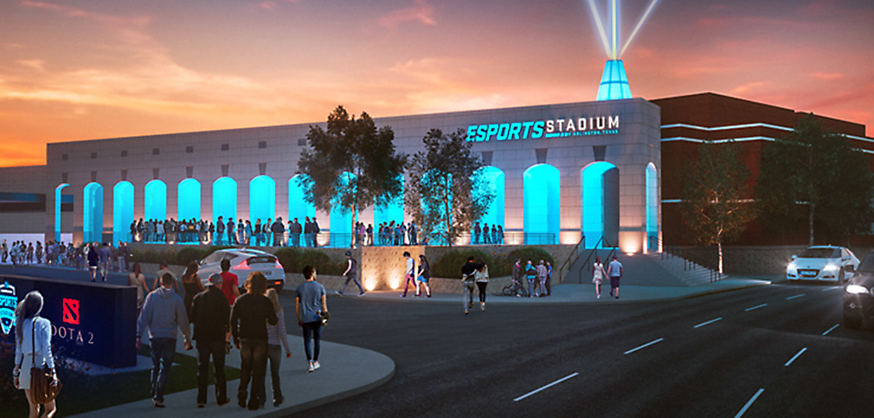 esports A rendering shows the exterior of the new Esports Arlington Stadium. [Image: Courtesy City of Arlington]