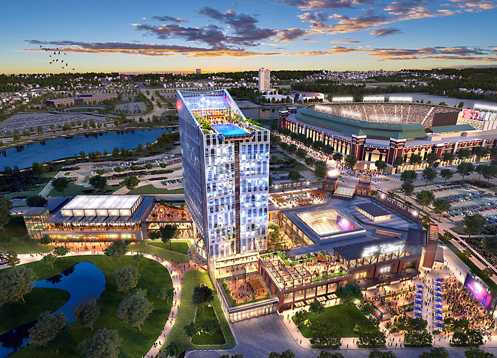 Texas Live! is expected to bring an estimated 1,025 permanent jobs to Arlington, as well as 3 million new visitors to the city. It will have a new $150 million Live! by Loews Hotel, the first of its kind in the nation.