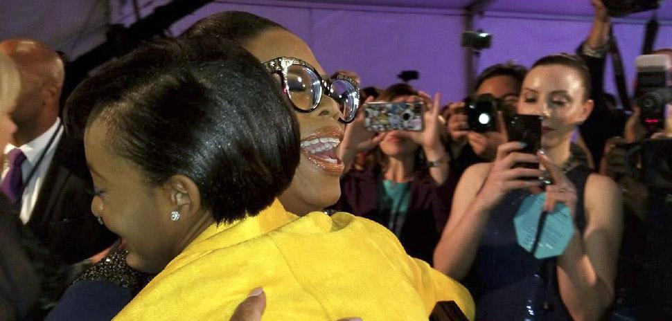 Ciara Boniface with Oprah Winfrey