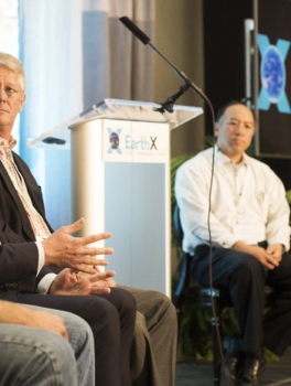 Andy Karetsky, Skyview Ventures; Jeremy Hux, True North Venture Partners; Tim Woodward, Prelude Ventures; Victor Liu, Hunt Energy Enterprises; and moderator Geoff Eisenberg.