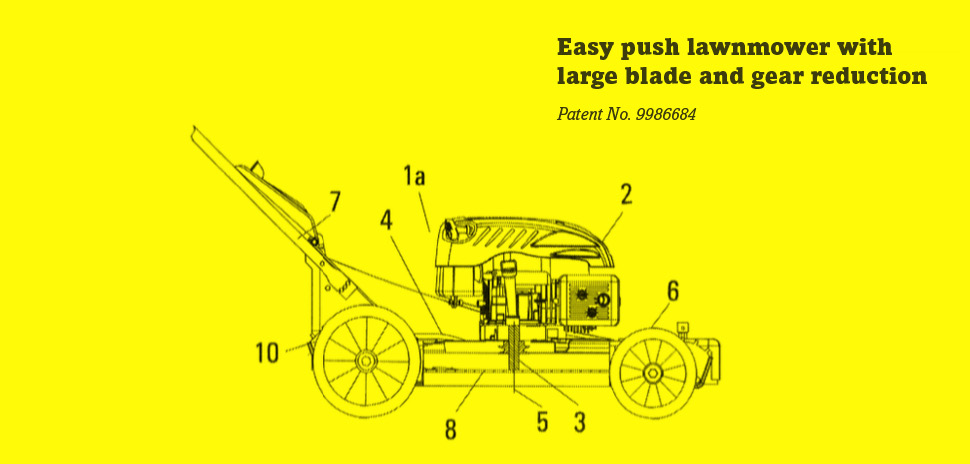 Patents granted include GXI Holdings, LLC's easy-to-use lawnmower with larger blades.