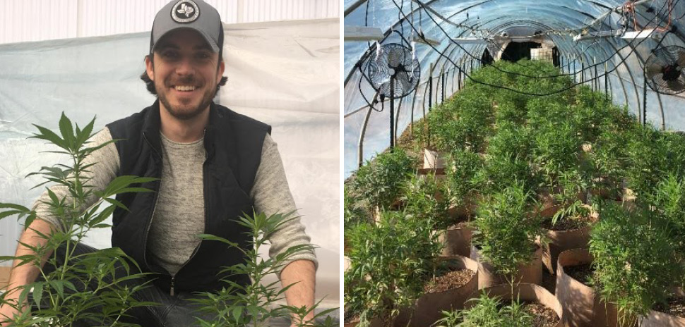 SolGro SolGro Founder and CEO Tyler Sickels holds crop yields from a pilot testing site in Colorado.