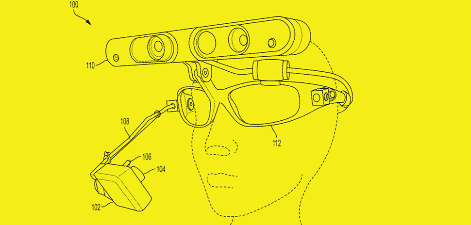 "An illustration from the Board of Regents of the University of Texas System's patent No. 10007336 demonstrating a mobile, low-cost three-dimensional gaze estimation. The headset may include an ""eye-tracking camera and scene camera to create multi-dimensional pictures in the direction of the user's view."