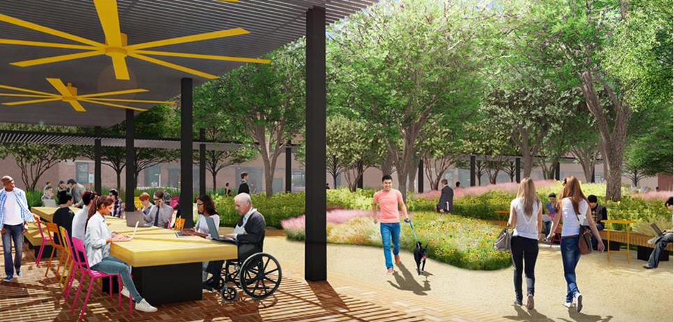 west end Rendering of the forthcoming West End Plaza. Image: James Corner Field Operations]