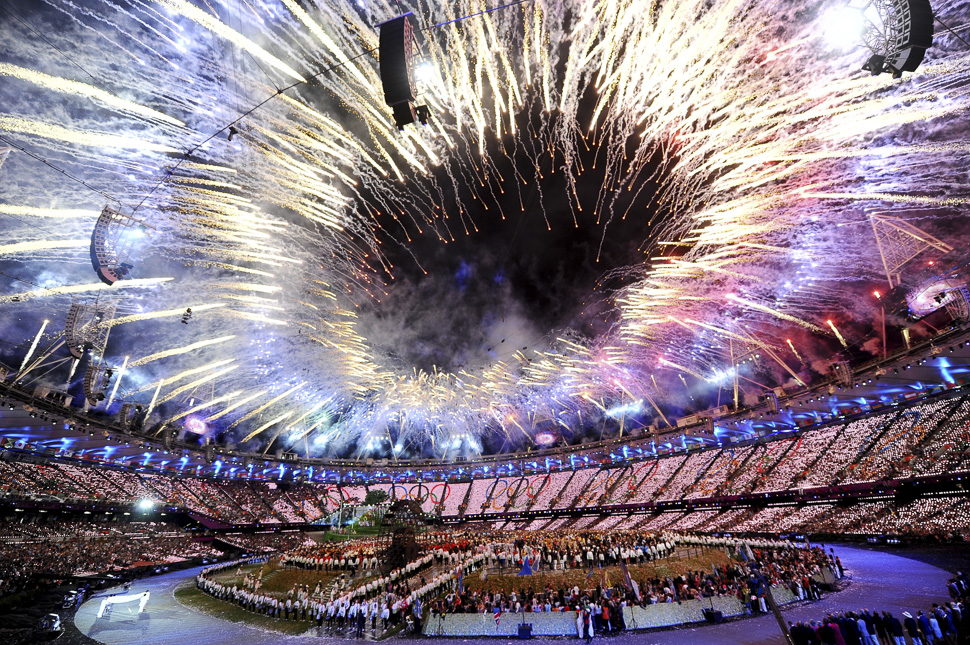 Opening Ceremony of the London 2012 Olympic Games at the Olympic Stadium on July 27, 2012 in London, England. (Photo by Laurence Griffiths/Getty Images)