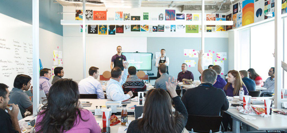 A USAA design workshop. [Photo: USAA]