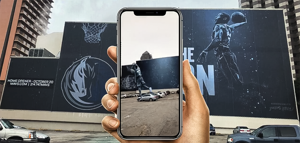 "The Groove Jones team worked with the Dallas Mavericks CMO, Jerome Elenez on the development for the season opener.  The Mavs are the first team to ""do something this big"" with augmented reality, Elenez said in a Groove Jones blog post."