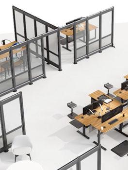 Varidesk flexible office walls