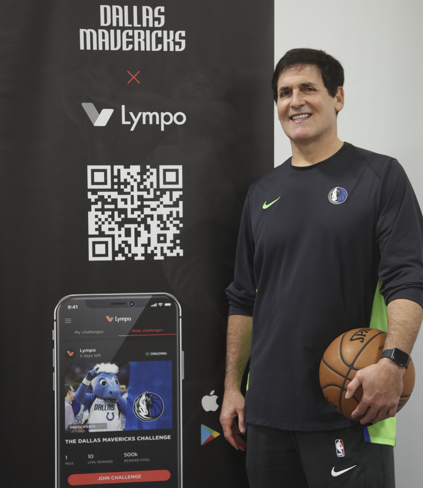 Mark Cuban and blockchain app Lympo [Photo: Peter Larsen]