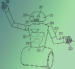 Toyota's Patent No. 10137567 shows a robot for taking inventory of an area. The patent describes a robot that could provide information to a user on current locations of objects, such as car keys and other belongings. [Illustration: USPTO]