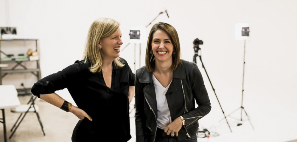 Shelly Slater (right) and her sister Jodie Hastings (left) co-founded The Slate as a female-focused coworking workspace. [Photo: Courtesy Shelly Slater]