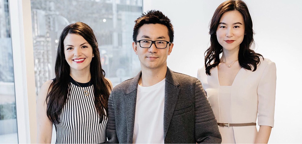 modesens The ModeSens leadership team—(from left) CMO Krystle Craycraft, CEO Brian Li, and Fashion Director Jing Leng—recently moved to Dallas.